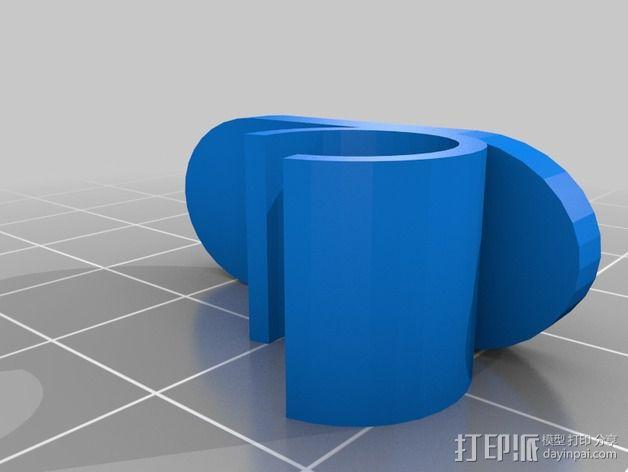 壁挂式彩虹管固定夹 3D模型  图4