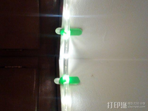 壁挂式彩虹管固定夹 3D模型  图5