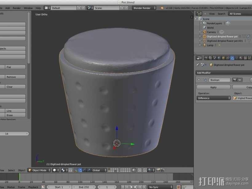 数字化花盆 3D模型  图9