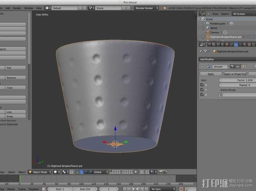 数字化花盆 3D模型  图8