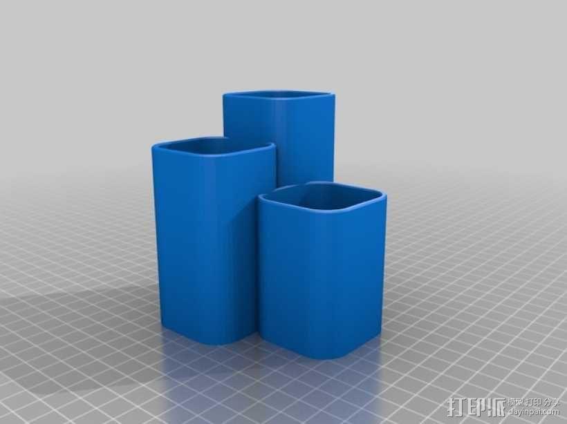 化妆用具收纳盒 3D模型  图2