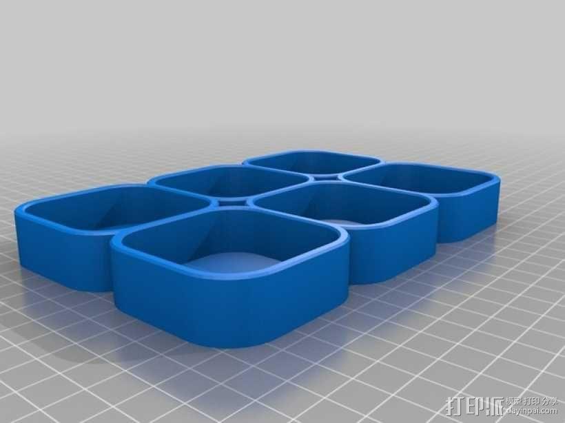 化妆用具收纳盒 3D模型  图4