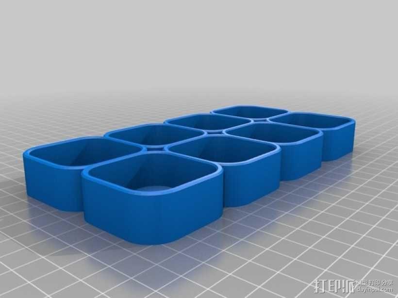 化妆用具收纳盒 3D模型  图3