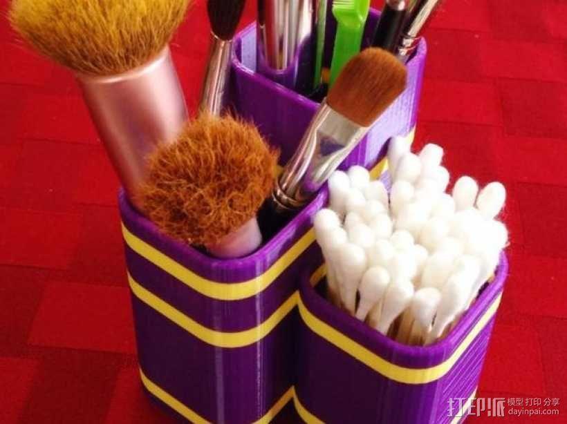 化妆用具收纳盒 3D模型  图7