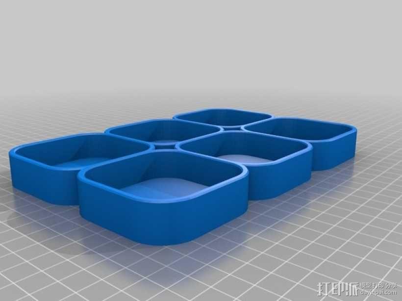 化妆用具收纳盒 3D模型  图5