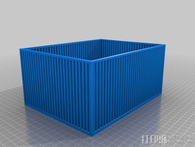 物品收纳盒 3D模型  图1