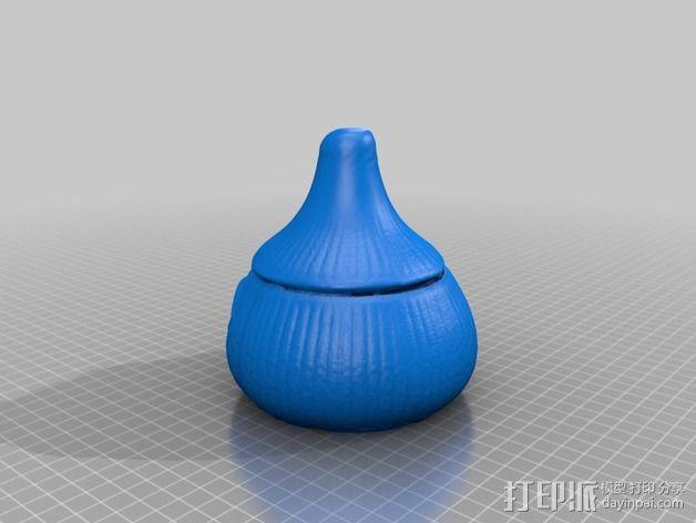 蒜头 罐子 3D模型  图6