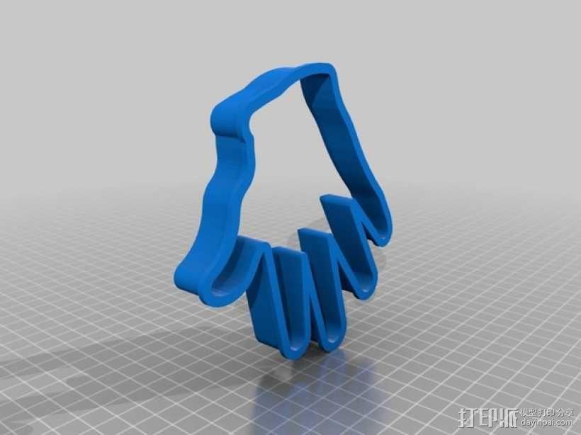 手掌 饼干制作模具 3D模型  图2