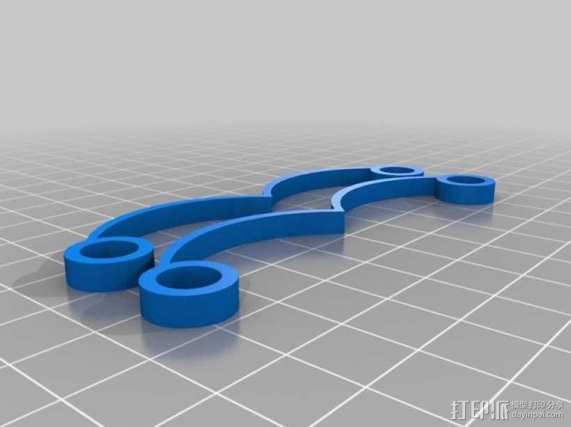 筷子架 3D模型  图2
