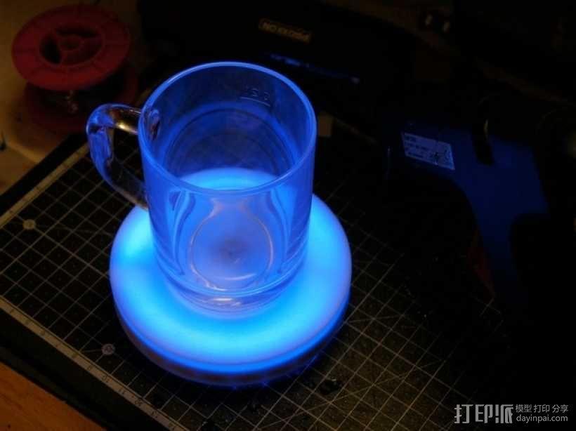 智能杯垫 3D模型  图1