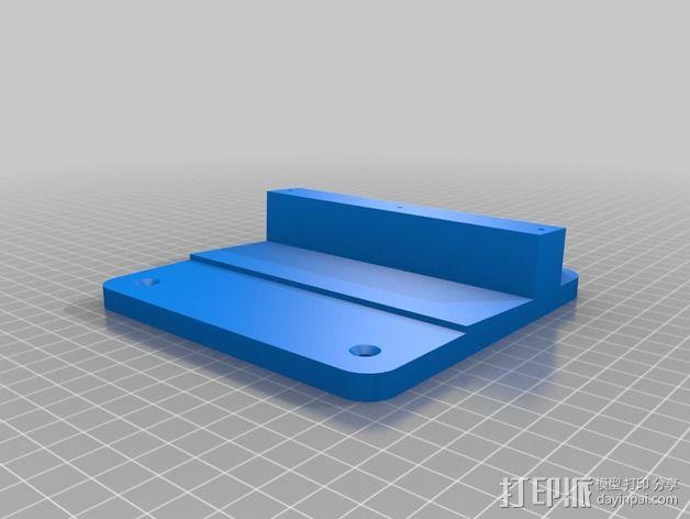 办公室隔间 多台显示器接口 3D模型  图2
