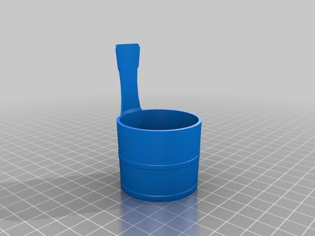 迷你日本温泉桶 3D模型  图2