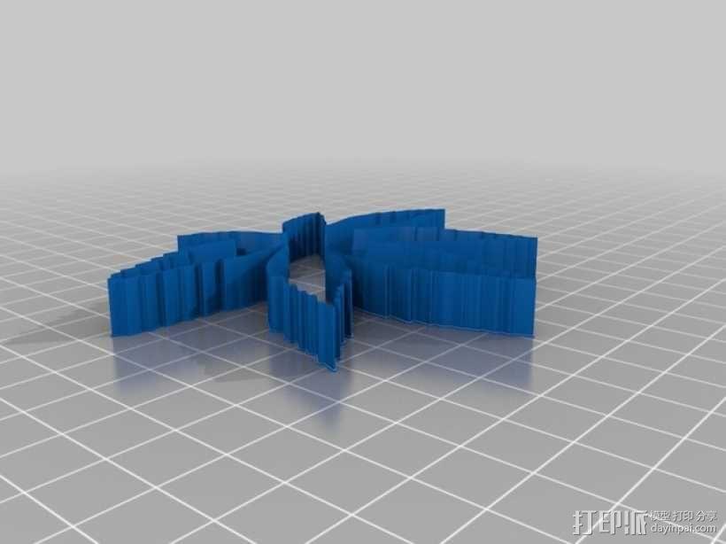树叶 饼干制作模具 3D模型  图1