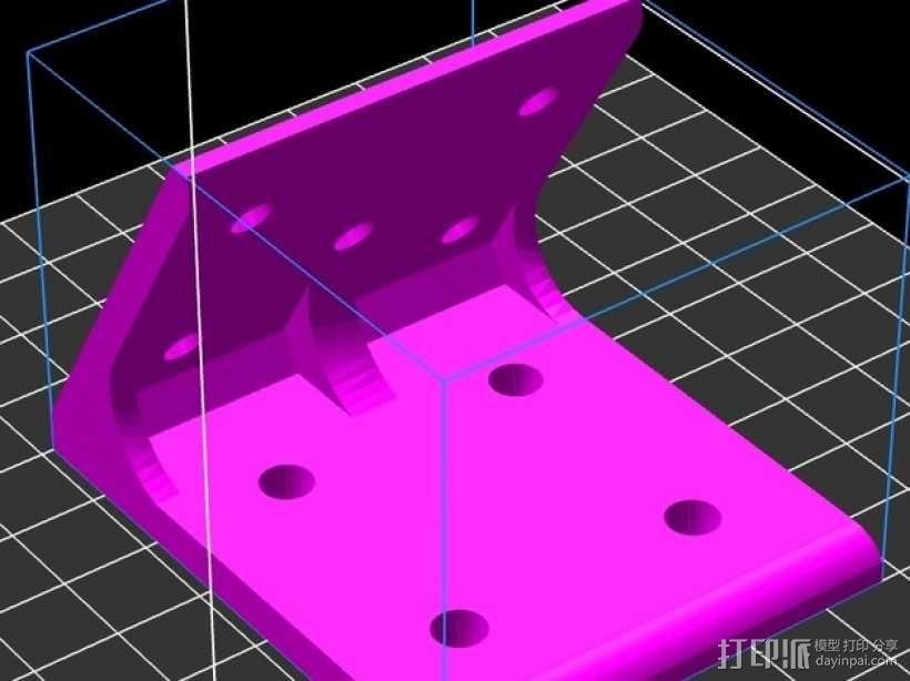 60度角的支架 3D模型  图1