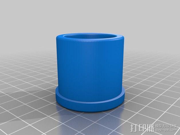 宜家Vika Kaj 桌的滑轮腿 3D模型  图1