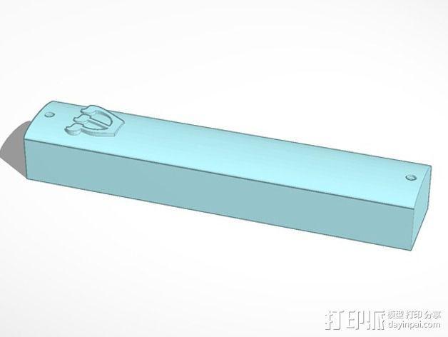 简易门柱圣卷盒 3D模型  图1