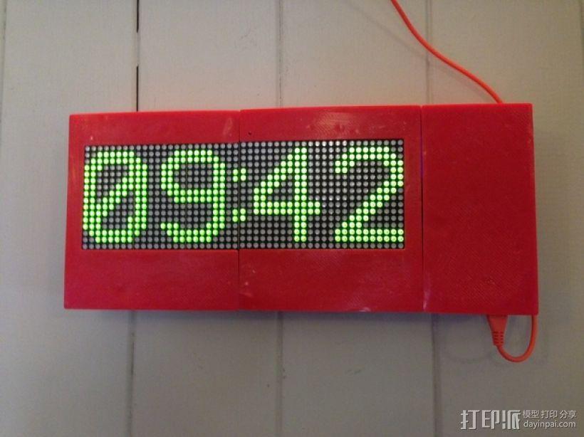 乒乓电子钟盒 3D模型  图1