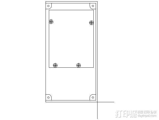 乒乓电子钟盒 3D模型  图2