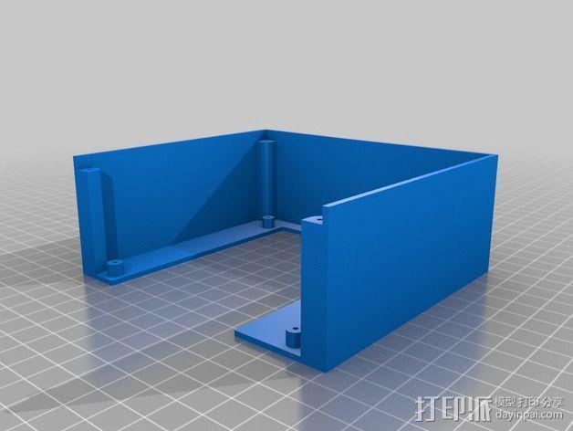 乒乓电子钟盒 3D模型  图6