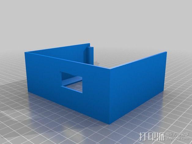 乒乓电子钟盒 3D模型  图5