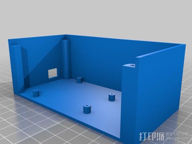 乒乓电子钟盒 3D模型  图7