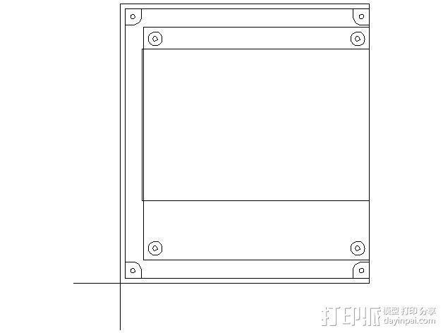 乒乓电子钟盒 3D模型  图4