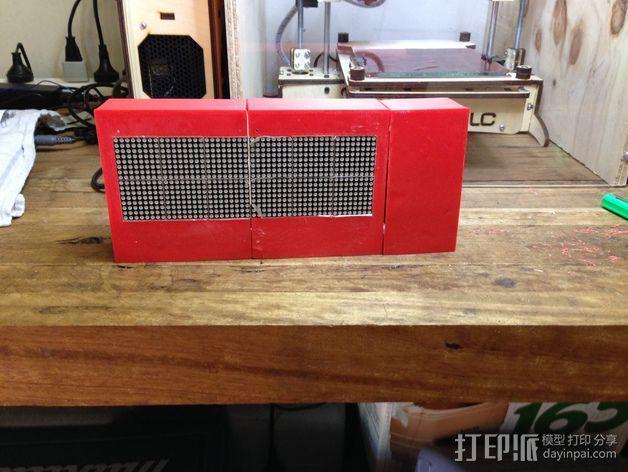 乒乓电子钟盒 3D模型  图9