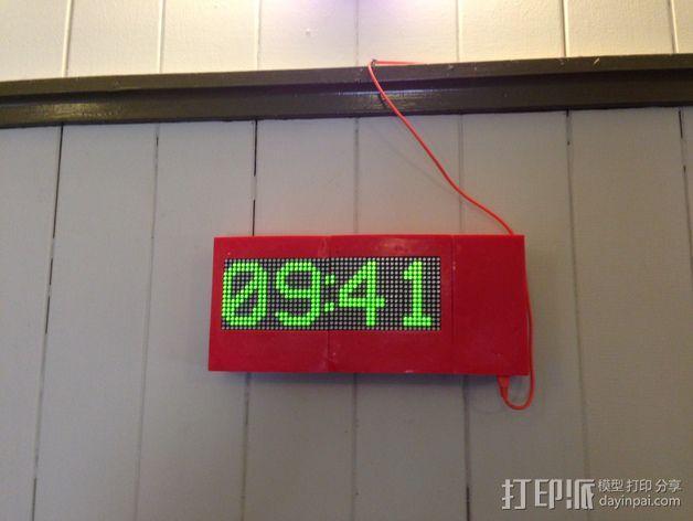 乒乓电子钟盒 3D模型  图10