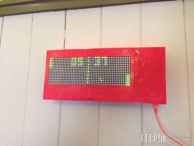 乒乓电子钟盒 3D模型  图11