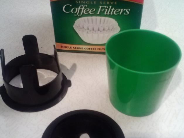 K-cup咖啡过滤器 3D模型  图2