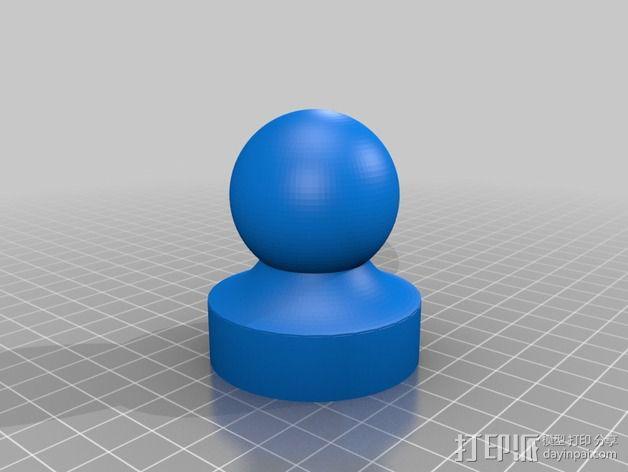 咖啡压粉器 52mm 3D模型  图3