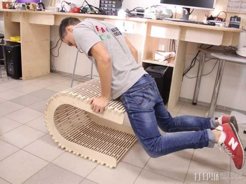 阴阳座椅 3D模型  图4