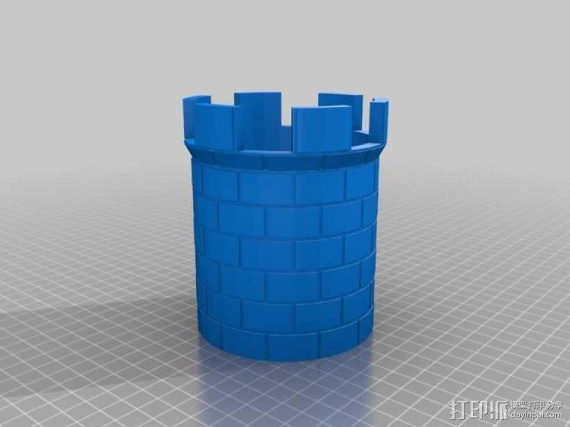 城堡塔楼 3D模型  图1
