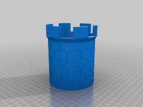 城堡塔楼 3D模型