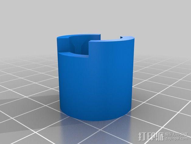 E-Rod机动窗帘杆马达接合器片和支架 3D模型  图2