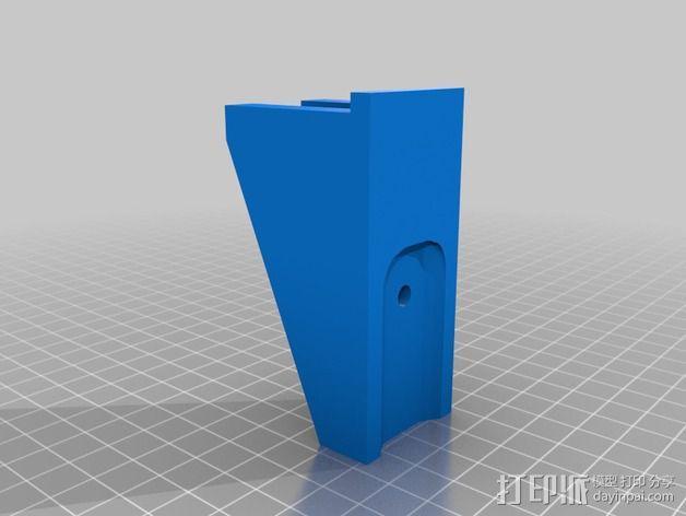 E-Rod机动窗帘杆马达接合器片和支架 3D模型  图3