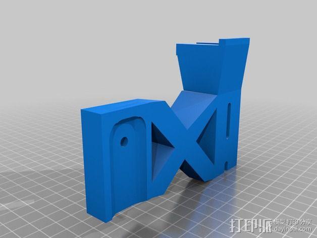 E-Rod机动窗帘杆马达接合器片和支架 3D模型  图4