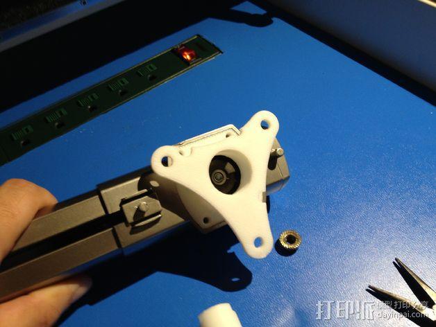 E-Rod机动窗帘杆马达接合器片和支架 3D模型  图9