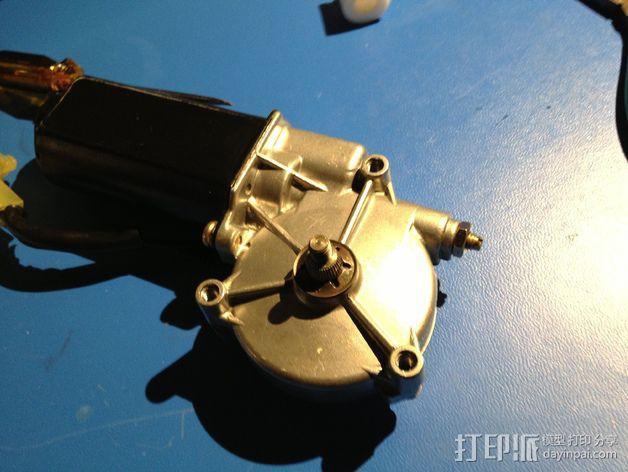 E-Rod机动窗帘杆马达接合器片和支架 3D模型  图12