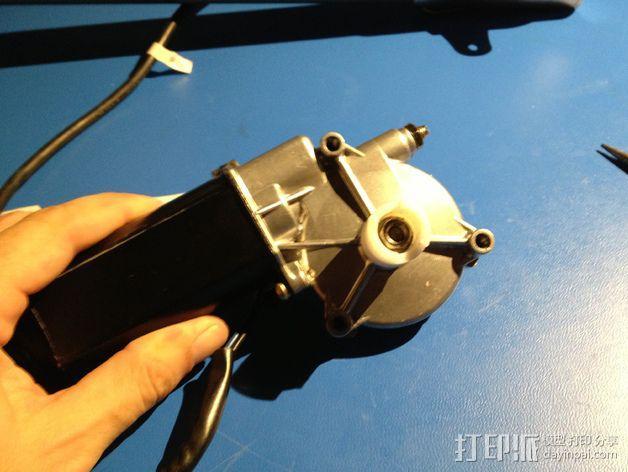 E-Rod机动窗帘杆马达接合器片和支架 3D模型  图14