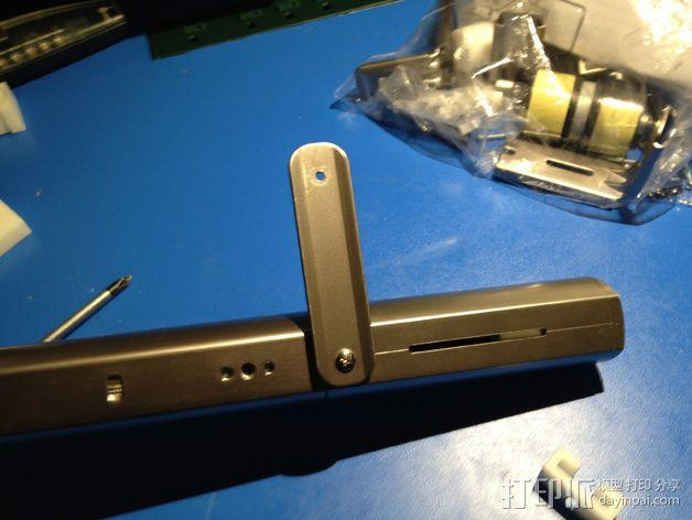 E-Rod机动窗帘杆马达接合器片和支架 3D模型  图19