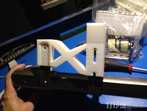 E-Rod机动窗帘杆马达接合器片和支架 3D模型  图26