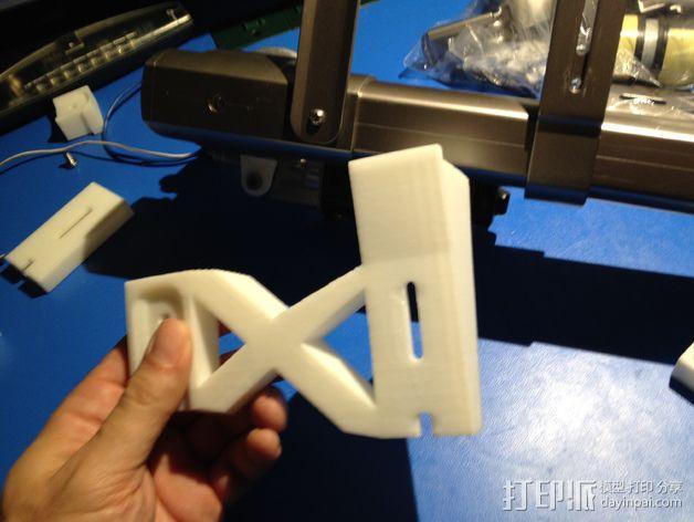 E-Rod机动窗帘杆马达接合器片和支架 3D模型  图23