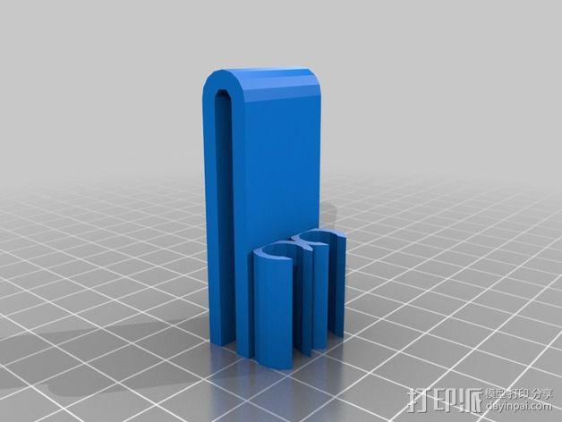 活页夹铅笔固定夹 3D模型  图2
