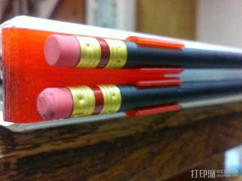 活页夹铅笔固定夹 3D模型  图1