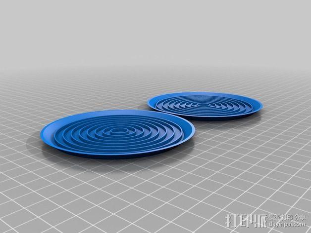 饮料杯垫底座 3D模型  图6