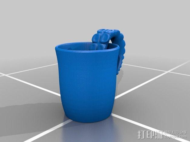 章鱼杯 3D模型  图2