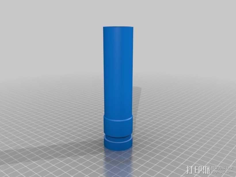 Dyso吸尘器适配器 3D模型  图2