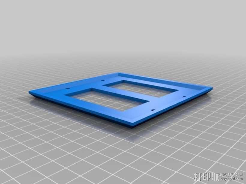 双头灯开关壳 3D模型  图1