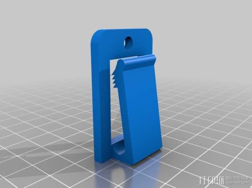 跑步机安全钥匙夹 3D模型  图1